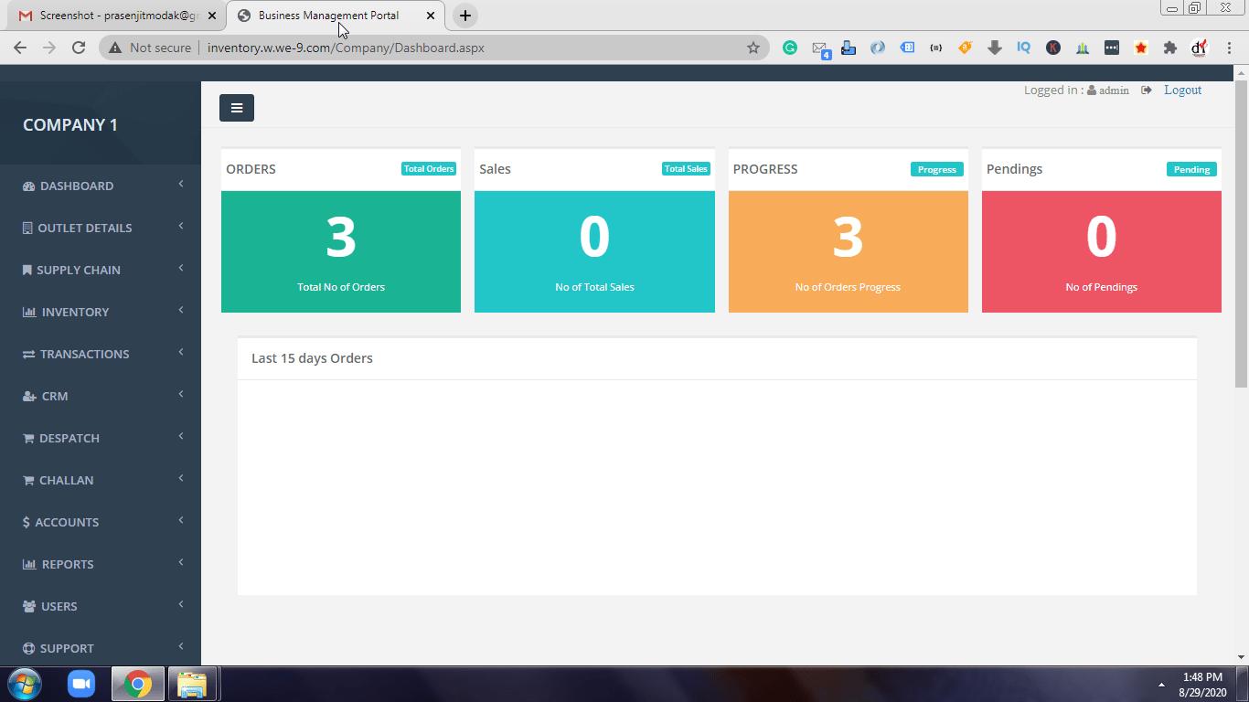 Web-based ERP